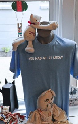 t shirt and stuffed toys